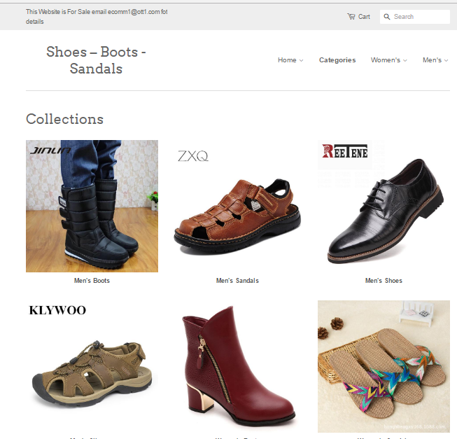 Women's and Men's  Shoe Store For Sale